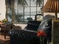 Casa-Canada hotel resort bedroom living room suite Corn Island Royalty Free Stock Photo