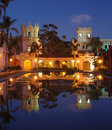 Casa De Balboa at night Stock Photo