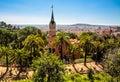 Casa de gaudi parque guell barcelona Imagem de Stock Royalty Free