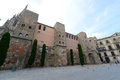 Casa de l ardiaca barcelona old city spain del arcediano is a historic building with part of the wall dates back to the roman era Stock Photos