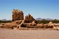 Casa grande ruins national monument of the pre columbian hohokam indians in arizona usa Royalty Free Stock Image