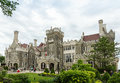 Casa loma castle in toronto ontario front view of historic constructed between and by architect e j lennox three hundred men were Stock Images