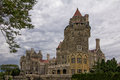 Casa loma castle in toronto ontario historic against stormy clouds Royalty Free Stock Photo