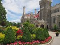 Casa loma garden toronto is a castle like mansion in Stock Image