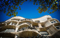 Casa mila antoni gaudi s in barcelona spain known as la pedrera Royalty Free Stock Images