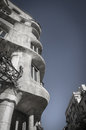 Casa mila antoni gaudi s in barcelona spain known as la pedrera Royalty Free Stock Photography