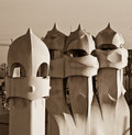 Casa Mila Barcelona Royalty Free Stock Photo