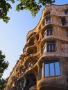 Casa mila in barcelona also known as la pedrera house designed by antoni gaudi catalonia spain Royalty Free Stock Photography