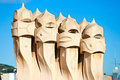 Casa Mila, barcelona, Spain. Royalty Free Stock Photography