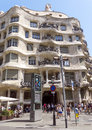 Casa mila barcelona spain july la pedrera in eixample barcelona spain an aristocratic apartment building is one of Royalty Free Stock Image