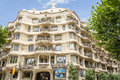 The casa mila better known as la pedrera in barcelona spain view of designed by antoni gaudi building is best exponent of Royalty Free Stock Photography