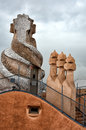 Casa Mila chimneys Royalty Free Stock Photo