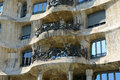 Casa mila eixample district barcelona spain the balcony of the milà la pedrera is an modernism masterpiece by architect antoni Stock Photography