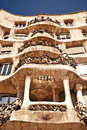 Casa Mila or La Pedrera in Barcelona, Spain Royalty Free Stock Photography