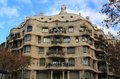 Casa Mila (La Pedrera) in Barcelona, Spain. Stock Photography