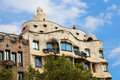 Casa mila or la pedrera in barcelona spain this famous building was designed by antoni gaudi and is one of the most visited of the Stock Photo