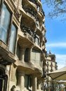 Casa mila or la pedrera barcelona spain a view of in Royalty Free Stock Photography