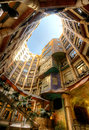 Casa Mila of La Pedrera in Barcelona, Spanje Royalty-vrije Stock Fotografie