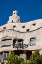 Casa mila la pedrera details at barcelona in spain Royalty Free Stock Images