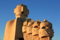Casa mila la pedrera famous in barcelona spain Royalty Free Stock Photography