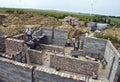 Casa nova que está sendo construída Imagens de Stock Royalty Free