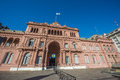 Casa rosada building in buenos aires argentina facade located at mayo square Stock Photography
