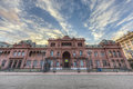 Casa rosada building in buenos aires argentina facade located at mayo square Royalty Free Stock Image