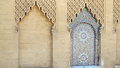 Casablanca hassan ii mosque minaret detail of morocco it s a famous landmark and an important religious site Royalty Free Stock Image