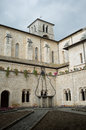 Casamari abbey italy the cloister of the church is a cistercian in the province of frosinone region lazio Stock Image