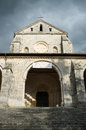 Casamari abbey italy façade of the church is a cistercian in the province of frosinone region lazio Stock Photography