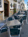 Casares andalucia spain may street scene in casares spain on Royalty Free Stock Image