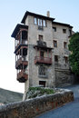 Casas colgadas in cuenca spain Royalty Free Stock Image