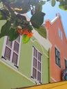 Casas coloridas willemstad curaçau Imagens de Stock