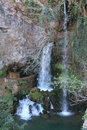 Cascada de la Cueva en Covadonga, Cangas de Onís, Spain Royalty Free Stock Photo