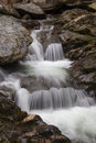 Cascade on Bash Bish Falls Royalty Free Stock Photo