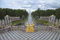 Cascade Fountains in Peterhof Stock Photos