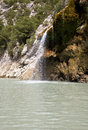 Cascade gorges de verdon france on the river at the beginning of the gorge Stock Image