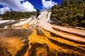 Cascade of hot mineral water Rotorua, North Island, New Zealand Royalty Free Stock Photo