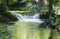 Cascade little in a river of pontevedra galicia spain Stock Images