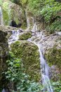 A Cascade of Little Waterfalls in Forest Krushuna, Bulgaria Royalty Free Stock Photo