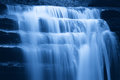 Cascade in the night soft water of waterfall Royalty Free Stock Photo