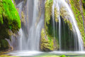 Cascade in the picturesque forest of jura france Royalty Free Stock Photography