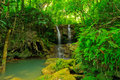 Cascade in um phang forest tropical of thailand Royalty Free Stock Image