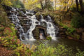 Cascade at the village of virginia water surrey located in windsor great park in the borough of runnymede Stock Photo