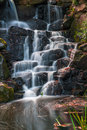 A cascade in Virginia Water, Surrey Royalty Free Stock Photo