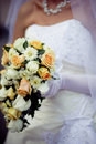 Cascade wedding bouquet Stock Photography