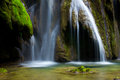 Cascade in the wild forest of jura france Royalty Free Stock Images