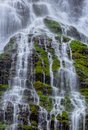 Cascades the falls name is feature show falls off the boulder river trail in washington state Royalty Free Stock Image