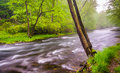 Cascades on the gunpowder river near prettyboy reservoir in balt baltimore county maryland Royalty Free Stock Image