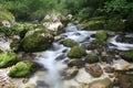Cascades of Soca river Royalty Free Stock Photo